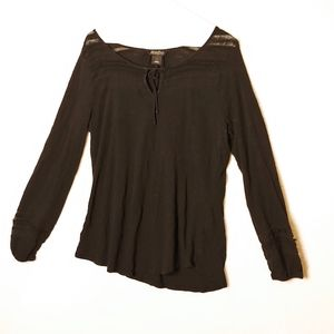 Black long sleeve lucky brand large light blouse